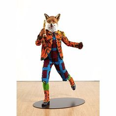 Sly as a blinged-out fox on fleek. © Yinka Shonibare. Revolution Kid (Fox) Mannequin