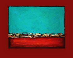 Malerei abstrakte Kunst Acryl auf Leinwand mit von OraBirenbaumArt