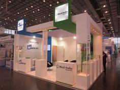 MEDICA - Messe Düsseldorf. MED-ITALIA BIOMEDICA. Ricerca, analisi, promozione e comunicazione. Progettazione e realizzazione dell'allestimento dello stand. Photo by honegger