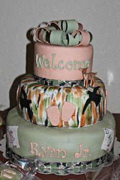 Camo Themed Baby Shower Cake