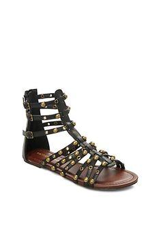 Metallic Studded Gladiator Sandal by Wild Diva   rue21