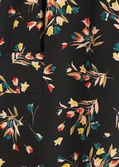 Flower culottes trousers - Women | Mango United Kingdom
