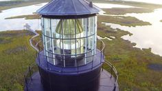 Check out this view of the Bodie Island Lighthouse on the Outer Banks!  #OBX #OuterBanks