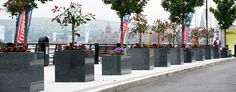 Derry City Council, N. Ireland – Custom Granite Planters