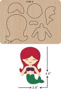 New Princess Wooden Die Cutting Dies Scrapbooking felt - Her Crochet Felt Doll Patterns, Felt Animal Patterns, Felt Diy, Felt Crafts, Paper Crafts, Felt Dolls, Paper Dolls, Card In A Box, Bow Template