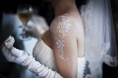 white henna mehndi wedding