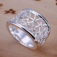 plain silver weaved ring