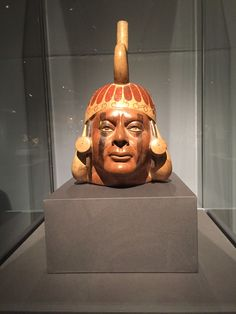 Portrait vessel, Moche people, North Coast of Peru, 400-650 CE, Metropolitan Museum of Art