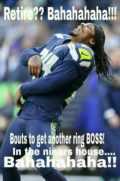Seahawks Marshawn Lynch will be playing in Seahawks Football, Seattle Seahawks, Marshawn Lynch Seahawks, Seahawks Memes, Seahawks Fans, Nfl Seattle, Best Football Team, Football Baby, Marshawn Lynch Meme