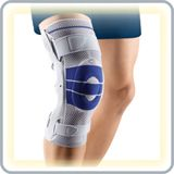 Bauerfeind Knee Braces are some of the best quality knee braces in the world.  Bauerfeind knee supports will help during workouts or running.   http://www.orthogeeks.com/Knee-Braces-For-Running