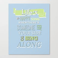 The muppets.. lifes a happy song.. Stretched Canvas by studiomarshallarts - $85.00