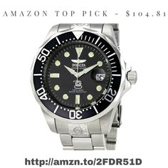 $104.81 Amazon Top Pick Diver's Watch http://amzn.to/2FDR51D Invicta   #diver #watch #luxury #giftsforhim #invicta #engineering #quality #style #fashion #men #classic #steel #metal #time #timeless #elegant #simple #budget #discount #basic #minimal #accessory #gadgets #tech