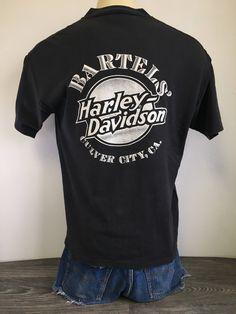 91d65947 HARLEY DAVIDSON Shirt Bartels 1988 Vintage Henley 80s Culver City California  Tshirt Motorcycle Biker Usa Fashion Cycles HD Signal Xl Tee by  sweetVTGtshirt ...