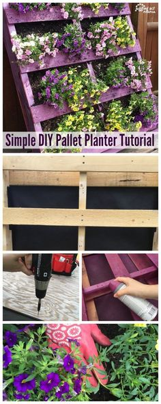 Pallet Planter Create this Simple DIY Pallet Planter to showcase annuals or fresh herbs.Create this Simple DIY Pallet Planter to showcase annuals or fresh herbs. Diy Garden Projects, Pallet Projects, Garden Tools, Diy Pallet, Pallet Fence, Pallet Pool, Pallet Ideas, Diy Planters, Garden Planters