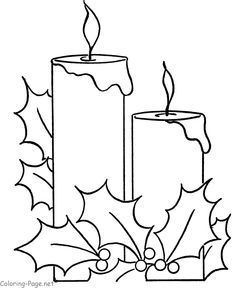 Free printable Christmas pictures to color - Holiday Candle for kids to print and color Christmas Colors, Christmas Art, Handmade Christmas, Christmas Ornaments, Christmas Windows, Free Christmas Printables, Christmas Templates, Christmas Pictures To Print, Christmas Photos