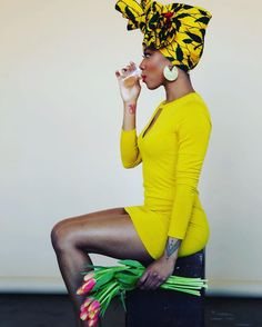 African Prints in Fashion - This is such a great shot! Via @afroellemag...