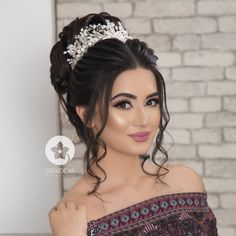 Quince Hairstyles, Crown Hairstyles, Bride Hairstyles, Bridal Makeup Looks, Wedding Hair And Makeup, Hair Makeup, Hair Curling Tips, Hair Upstyles, Make Up Braut