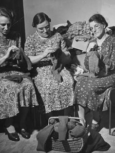 St Edmund's Crafty Knitters (Downham Market, Norfolk): Knit for Victory - knitting garments during drive to provide goods to servicemen and women during the war - all from Life Magazine -