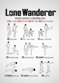 Lone Wanderer Workout - If you're going to be a bit of a lone wolf you'd better know how to use your body to take care of yourself. The Lone Wanderer workout demands you use those muscle groups you need fro a little butt-kickery and it's not shy putting y Fallout 4 Funny, Fitness Tips, Fitness Motivation, Workout Fitness, Health Fitness, Neila Rey Workout, Taekwondo, Superhero Workout, Lone Wanderer