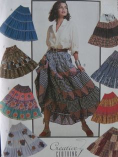 I think my mom made me this skirt....Flouncy Country Girl Prairie Skirt Pattern Sz by SewKnitandCrochet, $9.98