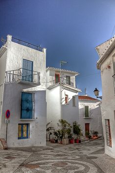 """Pueblos blancos"" Whitewashed villages in Andalucia."