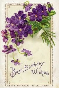 sweet violets - Best Birthday Wishes - vintage postcard Birthday Postcards, Vintage Birthday Cards, Vintage Greeting Cards, Happy Birthday Cards, Birthday Greetings, Vintage Postcards, French Postcards, Vintage Frames, Best Birthday Wishes