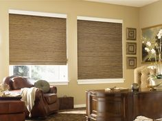 Natural woven woods: As the name suggests, these window coverings are made of natural materials like bamboo, jute, rattan. You can order them in various options like Roll shades, Roman shades, panel drapes depending upon your taste and requirements. Available with features like Top down-bottoms up, continuous loop. http://www.windowinspirations.ca/