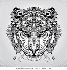 media.istockphoto.com vectors detailed-lion-in-aztec-style ...