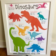 Excited to share this item from my shop: Dinosaur Nursery Art for boys, Dinosaur Poster