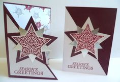 Christmas Cards using Stampin' Up! Bright and Beautiful stamp set.