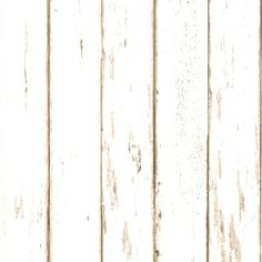 White Distressed Wood Grain Boards Wallpaper