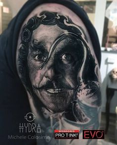 Repost : @michelecol90 Capitan Hook in progress @pro_t_ink  @armyztattoomachines For info hydraskindesign@gmail.com #tattoo #tattoos #peterpan #blackandgreytattoo #tattoostation #ink #inked #inkedup #intenzeink #intenzepride #intenzeproducts #sullen #inkedmag #inkedmagazine #freshlyinked #tattooink #tattoosociety #tattooed #tattooing #tattooist #tattooart #capitanhook #tattooartist #instatattoo #tattoodo #blackswan #sponsored #protink #evo24 #evo10  Repost : @michelecol90
