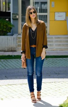 A cool casual look for cold spring days.