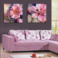 Photo Gallery - Yc Special Design Frameless Paintings Gorgeous Purpie Rose Flowers of 2 Flower Painting Canvas, Fabric Painting, Mural Wall Art, Canvas Wall Art, Paint My Photo, Christmas Drawing, Art Floral, Beautiful Paintings, Rose Flowers