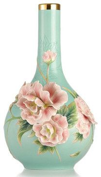 Franz Porcelain Collection Elegance Cotton Rose Vase
