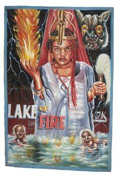 Ghana vintage bootleg movie poster - Lake of Fire.