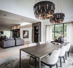 Haus-Umbau-Villa - Hints for Women Luxury Dining Room, Dining Room Design, Dining Room Inspiration, Interior Inspiration, Living Room Interior, Kitchen Interior, Calabasas Homes, Best Interior, Interior Design