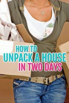 In 14 years, I've moved over 30 times. You could say I'm an expert mover by now and over the years, I've learned how to unpack a house in two days! It's not hard if you follow these simple steps.