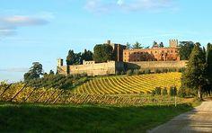 Autumn, Siena Italy Tuscany. Castello di Brolio di Bettino Ricasoli (1809-1880) - Gaiole Chianti.