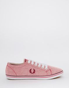 Image 2 - Fred Perry - Kingston - Tennis bicolores en toile - Rouge