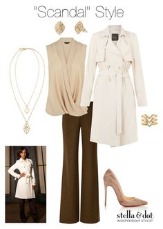 """""""Scandal Style"""" by kmatthews-i ❤ liked on Polyvore featuring Wes Gordon, Stella & Dot, Christian Louboutin and stelladotstyle"""