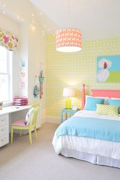 bright and fresh little girl's room