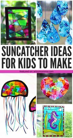 Colorful Suncatcher Crafts for Kids to Make is part of Summer crafts For Boys - We are sharing some truly creative ideas for suncatchercrafts for kids can easily make and enjoy all year round Summer Crafts For Kids, Crafts For Kids To Make, Fun Crafts For Kids, Toddler Crafts, Art For Kids, Children Crafts, Craft Ideas For Girls, Craft Projects For Kids, Summer Ideas