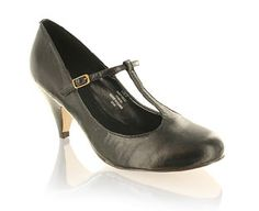 Barratts Fabulous T-Bar Court Shoe Black leather look court shoeT-bar and buckle fasteningMedium cone heelHeel height 8cmNo shoe collection is complete without these!Product Name: Lambada http://www.comparestoreprices.co.uk/womens-shoes/barratts-fabulous-t-bar-court-shoe.asp