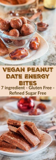 7 ingredient vegan peanut date energy bites that are also gluten-free, sugar-free and packed full of delicious hearty ingredients!  Under 100 calories per ball with 2.5 grams of protein! ##StartWithJifPowder #CollectiveBias #ad  avocadopesto.com