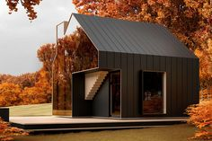 Prolific Russian architect Alex Nerovnya has recently revealed designs for SOL House, an energy-efficient cabin with massive, double-glazed walls with a mirror-like shine that renders the building … Forest Cabin, Glazed Walls, Timber Cladding, Corner House, Brutalist, Modern Architecture, Building Architecture, Tiny House, Minimalism