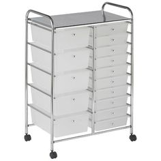 Honey-Can-Do Rolling Storage Cart and Organizer with 12 Plastic Drawers 3 Drawer Storage, Rolling Storage, Storage Cart, Drawer Organisers, Craft Storage, Storage Bins, Storage Organization, Classroom Organization, Storage Ideas