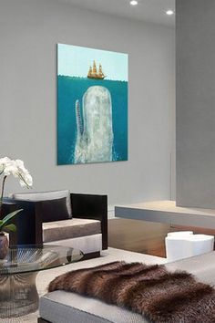 The Whale by Terry Fan Canvas Print
