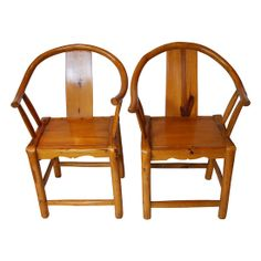 Chinese Bentwood Chairs, Pair #huntersalley