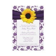 Purple and Sunflower wedding themes - Google Search..   This is pretty close to what I am going for! I like it a lot :D